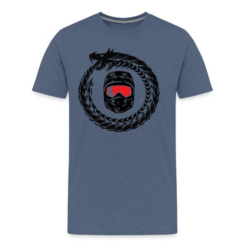 SushiRider logo Schwarz - Männer Premium T-Shirt