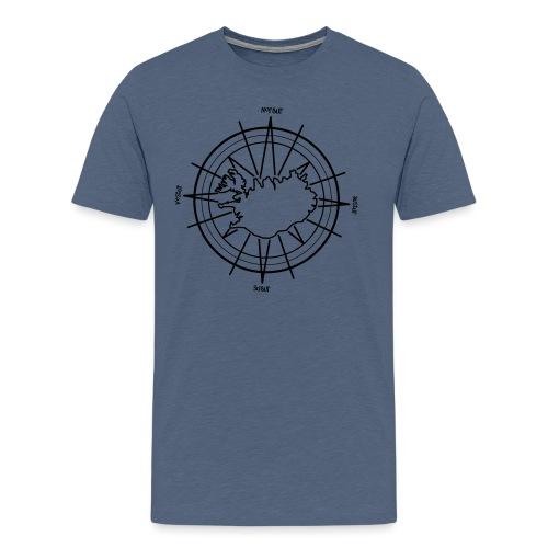Island Kompass 0PD15 - Männer Premium T-Shirt
