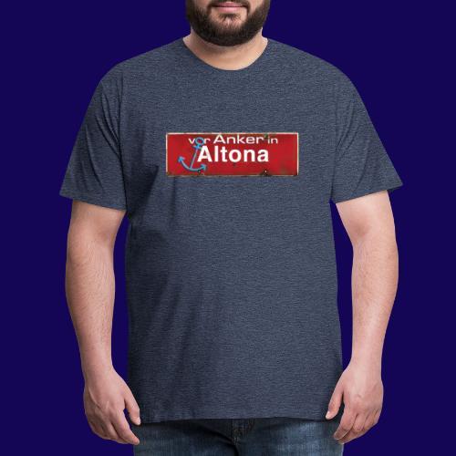Vor Anker in Altona, Hamburg: Antik-Ortsschild - Männer Premium T-Shirt