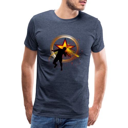 Fussball Fanshirt Deutschland - Kopfball Treffer - Männer Premium T-Shirt