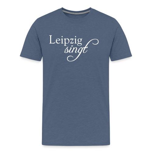 Leipzig singt Logo Weiss - Männer Premium T-Shirt