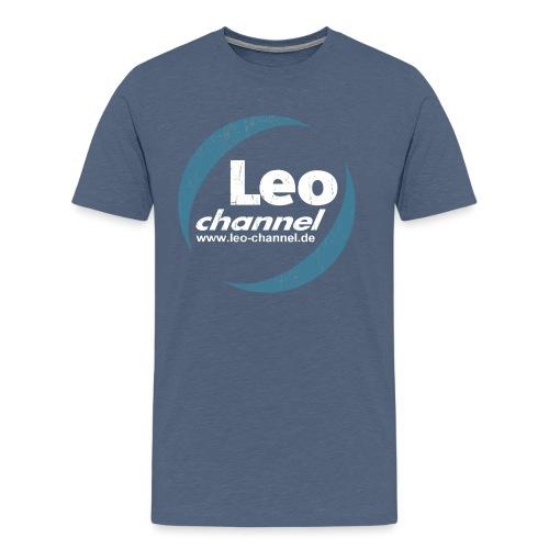 T Shirt Logo Dirty - Leo Channel - Männer Premium T-Shirt