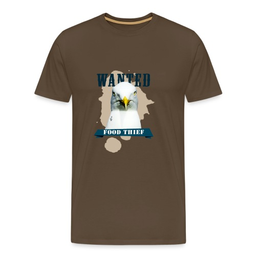 WANTED - FOOD THIEF - Männer Premium T-Shirt