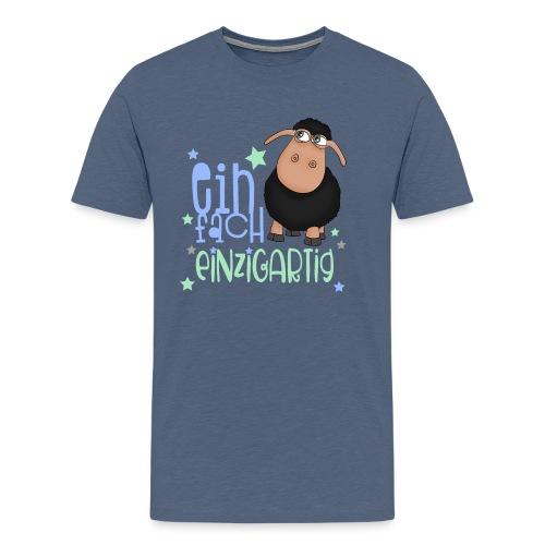 Einfach einzigartig: schwarzes Schaf kleines Schaf - Männer Premium T-Shirt