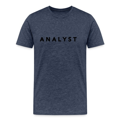 ANALYST LOGO BLACK - Men's Premium T-Shirt