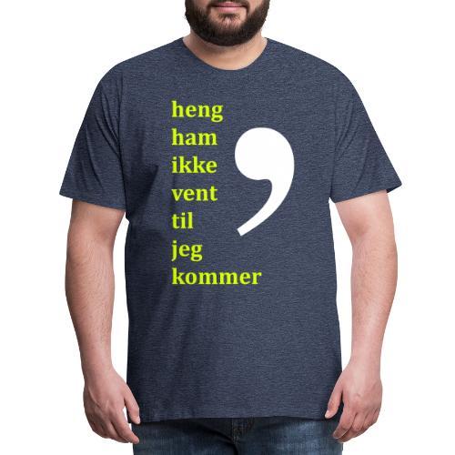 Komma dreper - Premium T-skjorte for menn