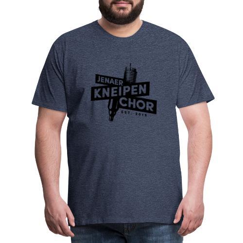 06 Jenaer Kneipenchor Logo schwarz - Männer Premium T-Shirt