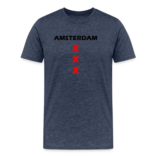 AMSTERDAM KRUIS png - Mannen Premium T-shirt