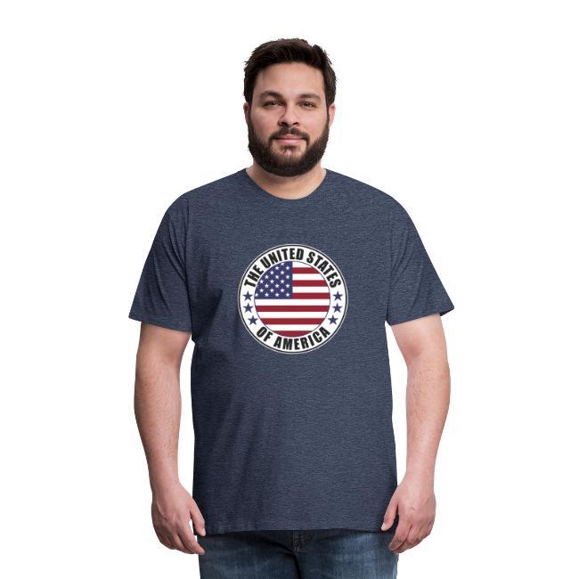 The United States of America - USA flag emblem