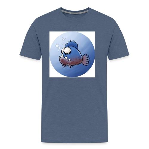 Piranha Button - Männer Premium T-Shirt