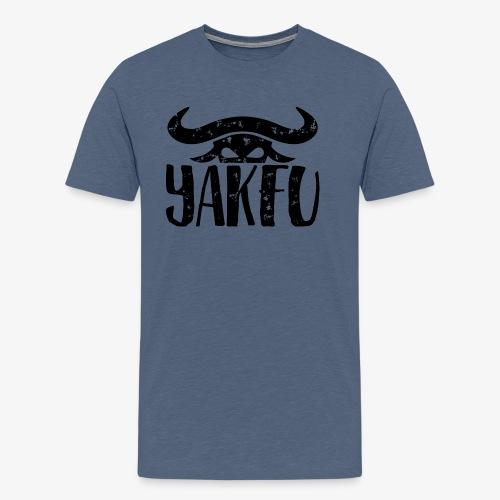 YakFu (Black) - Männer Premium T-Shirt