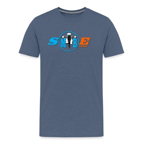SMTBE biker logo DECAL orange big png - Men's Premium T-Shirt
