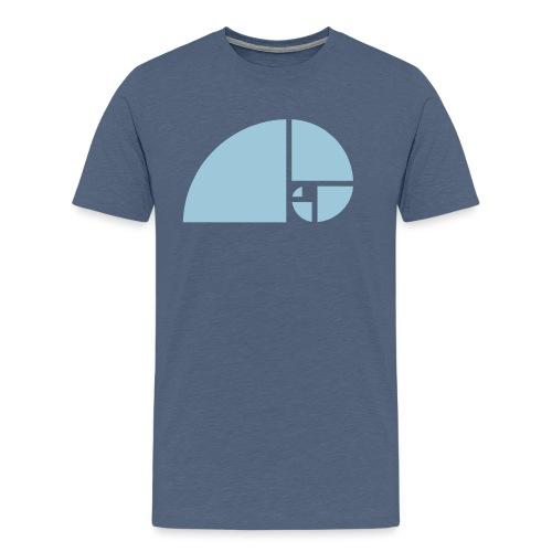 Goldener Schnitt - Fibonacci Spirale - Phi - Folge - Männer Premium T-Shirt