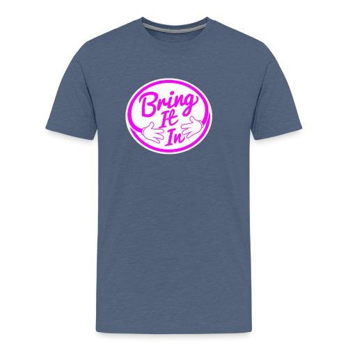 BII Pink font png - Men's Premium T-Shirt