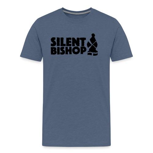 Silent Bishop Logo Groot - Mannen Premium T-shirt