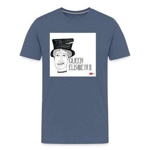 queen elisabeth ii - Mannen Premium T-shirt