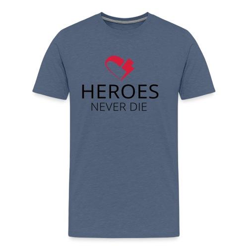 heroes flash-heart - Männer Premium T-Shirt