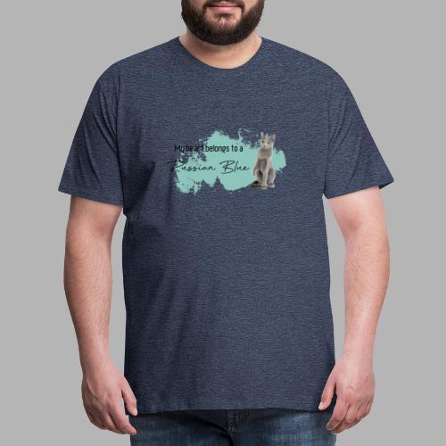 my heart belongs to a Russian Blue - Männer Premium T-Shirt