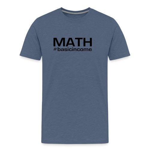 math-black - Mannen Premium T-shirt