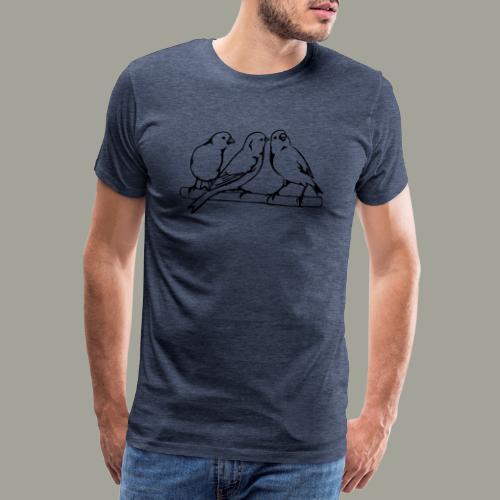 Kanarki kanarki kolorują kanarki - Koszulka męska Premium