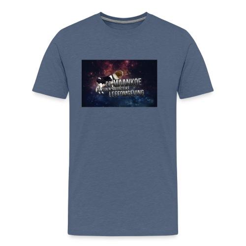 maankoe met agtergront - Mannen Premium T-shirt