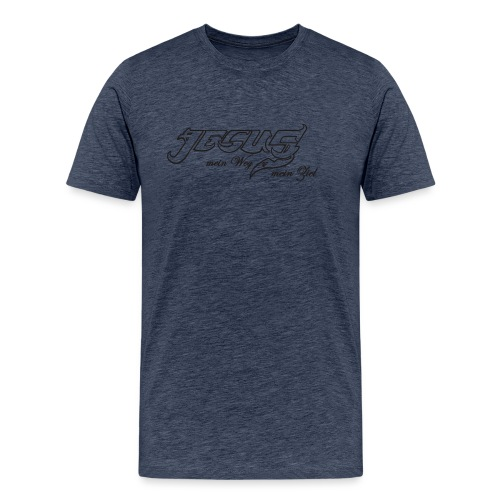 Jesus Weg und Ziel - Männer Premium T-Shirt