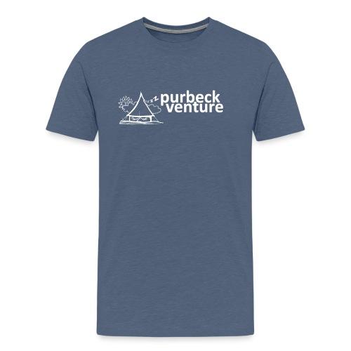 Purbeck Venture Sleepy white - Men's Premium T-Shirt