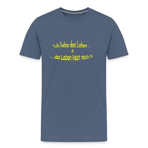 Ich-liebe-das-Leben-gelb - Männer Premium T-Shirt