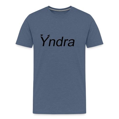 Yndra-Logo´3´-Schwarz - Männer Premium T-Shirt