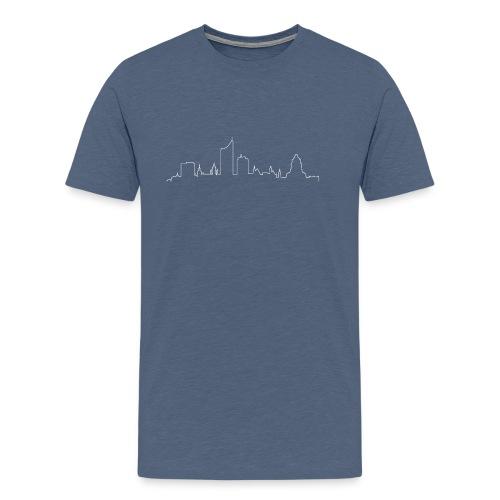 skyline leipzig weiß png - Männer Premium T-Shirt