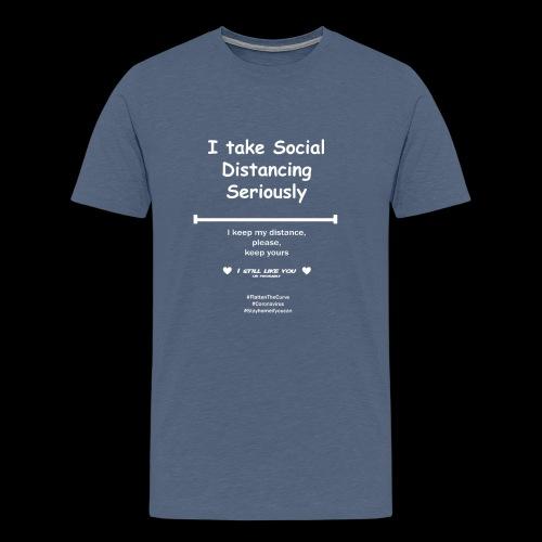 Social distancing - Mannen Premium T-shirt