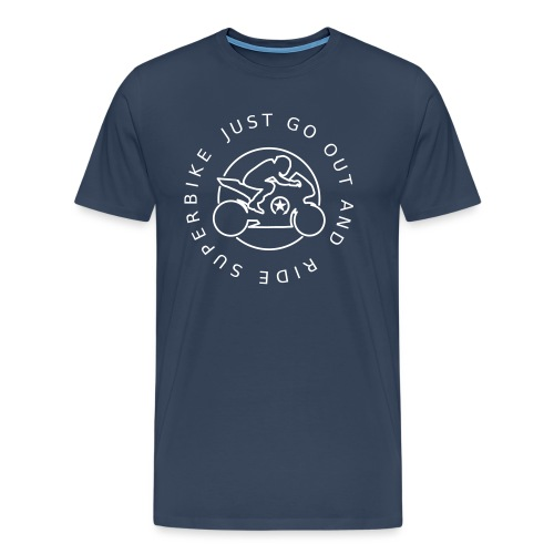 just go out and ride superbike 0GO03 - Men's Premium T-Shirt