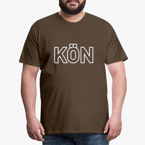 KÖN 140% Vektor_Outline_ - Männer Premium T-Shirt