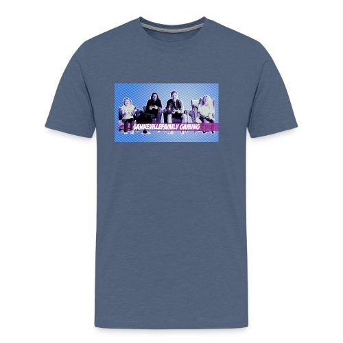 SanneVilleFamily Gaming med blå baggrund - Herre premium T-shirt