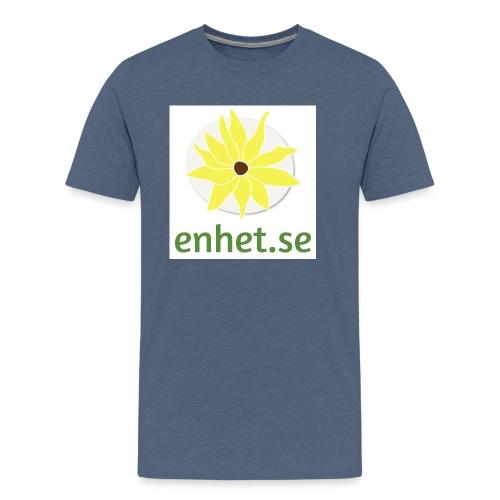 Enhet_logotyp_hq_text_und - Premium-T-shirt herr