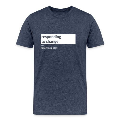 Agile Manifesto: Responding to change - Men's Premium T-Shirt