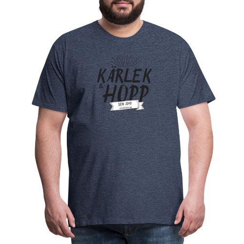 Kärlek och Hopp - Premium-T-shirt herr