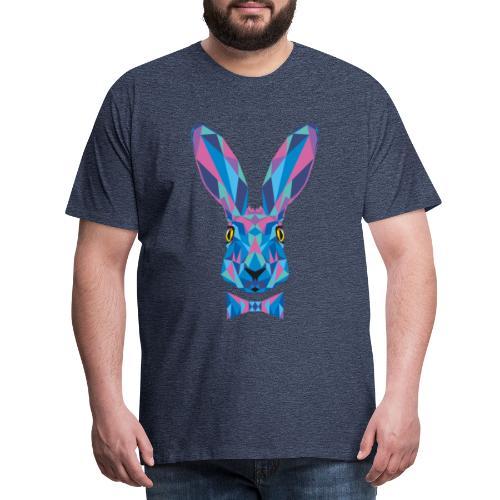 Hase Fliege Feldhase Langohr bunt Kaninchen Löffel - Männer Premium T-Shirt