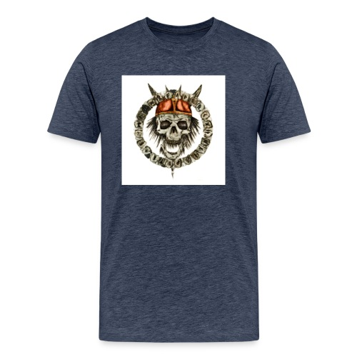 viking skull runes - T-shirt Premium Homme