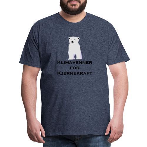 Isbjørn og Klimavenner - Premium T-skjorte for menn