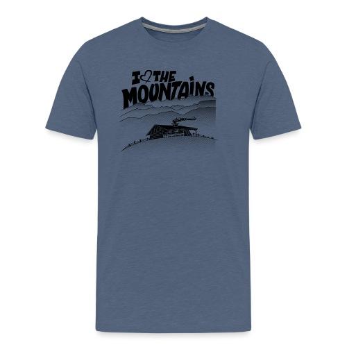 I love The Mountains - Mannen Premium T-shirt