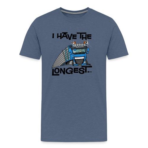 0700 D Truck I have the longest loads (FRONT+BACK) - Mannen Premium T-shirt