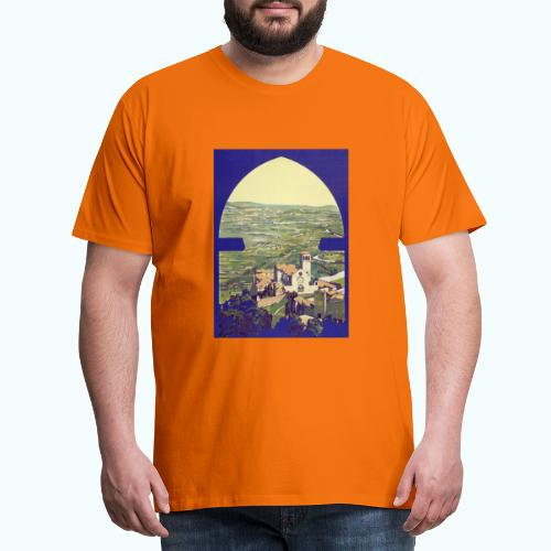 Tuscany vintage travel poster - Men's Premium T-Shirt