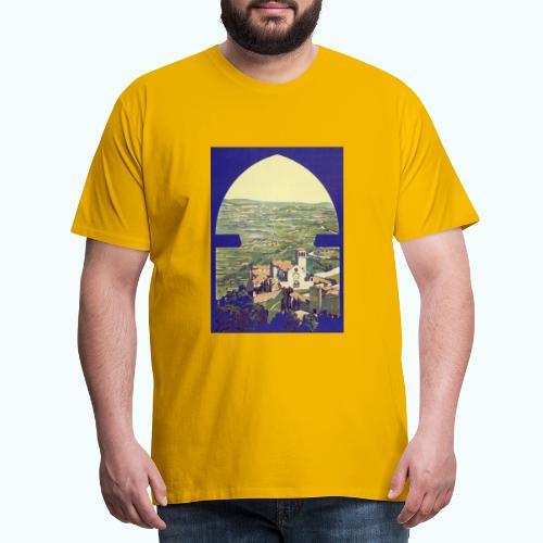 Tuscany vintage travel poster - Men's Premium T-Shirt