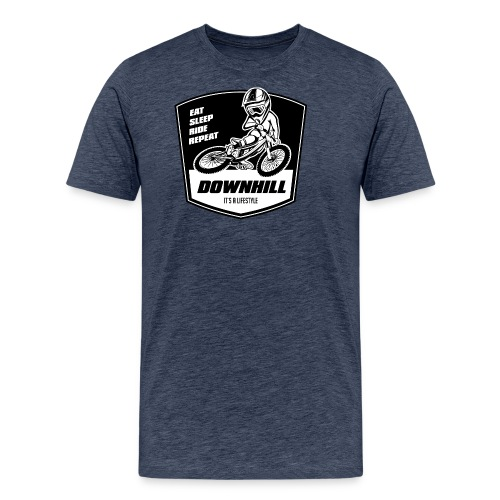 Downhill Freeride - Eat Sleep Ride Repeat - Männer Premium T-Shirt