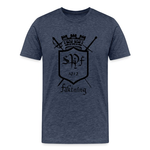 SPIFF Black T-shirt Herr - Premium-T-shirt herr
