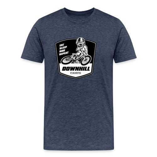 Downhill Freeride - Eat Sleep Ride Repeat - Männer Premium T-Shirt