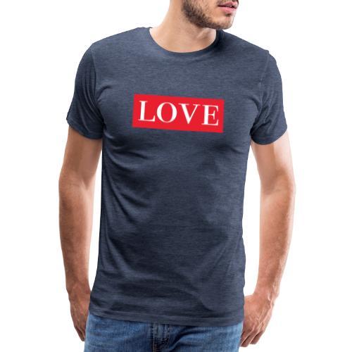 Red LOVE - Men's Premium T-Shirt