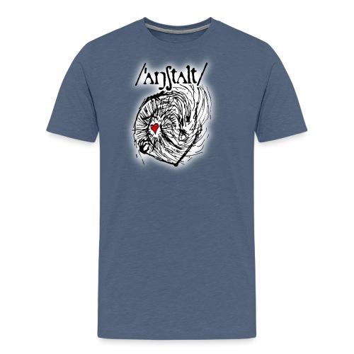 wesen mit herz und logo - Männer Premium T-Shirt