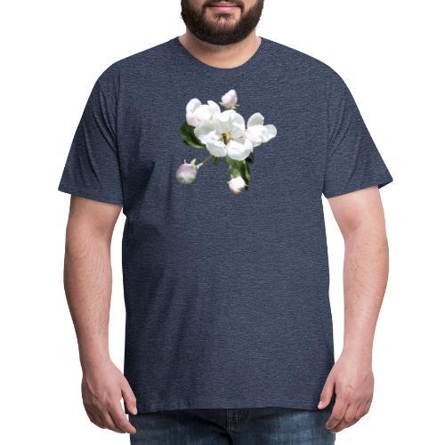 Omenankukka ja kukkakärpänen - Miesten premium t-paita